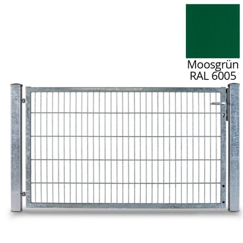 Doppelstabgitterzaun RohrrahmentorVARIO basic L - RAL 6005 (B: 1790 mm x H: 1400 mm)