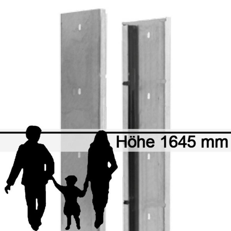 Gabionen-Zaunsystem SAPHIR - Zink - Höhe: 1645mm