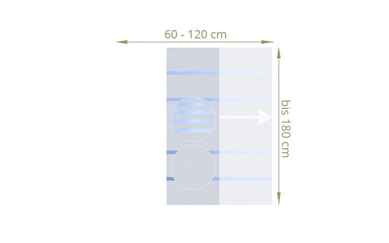 TraumGarten Sichtschutzzaun Maßanfertigung System Glas teilmattiert - für Breite 40 - 120 cm