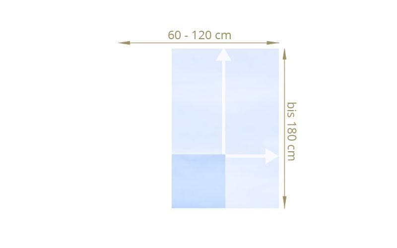 TraumGarten Sichtschutzzaun Maßanfertigung System Glas matt / klar - für Höhe 40 - 180 cm Breite 40 - 120 cm