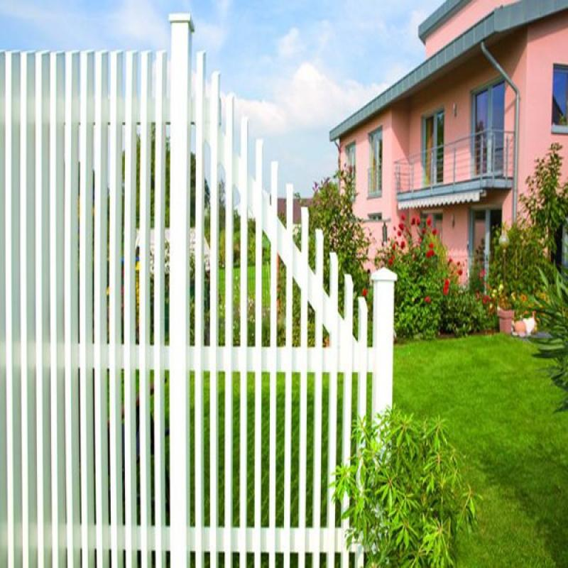 TraumGarten Sichtschutzzaun Longlife NOVO Design Rechteck offen weiß - 180 x 180 cm