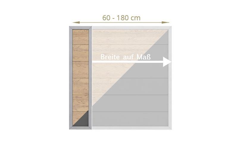 TraumGarten Sichtschutzzaun Maßanfertigung Design WPC Alu sand-  Höhe 180 cm und Breite wählbar cm