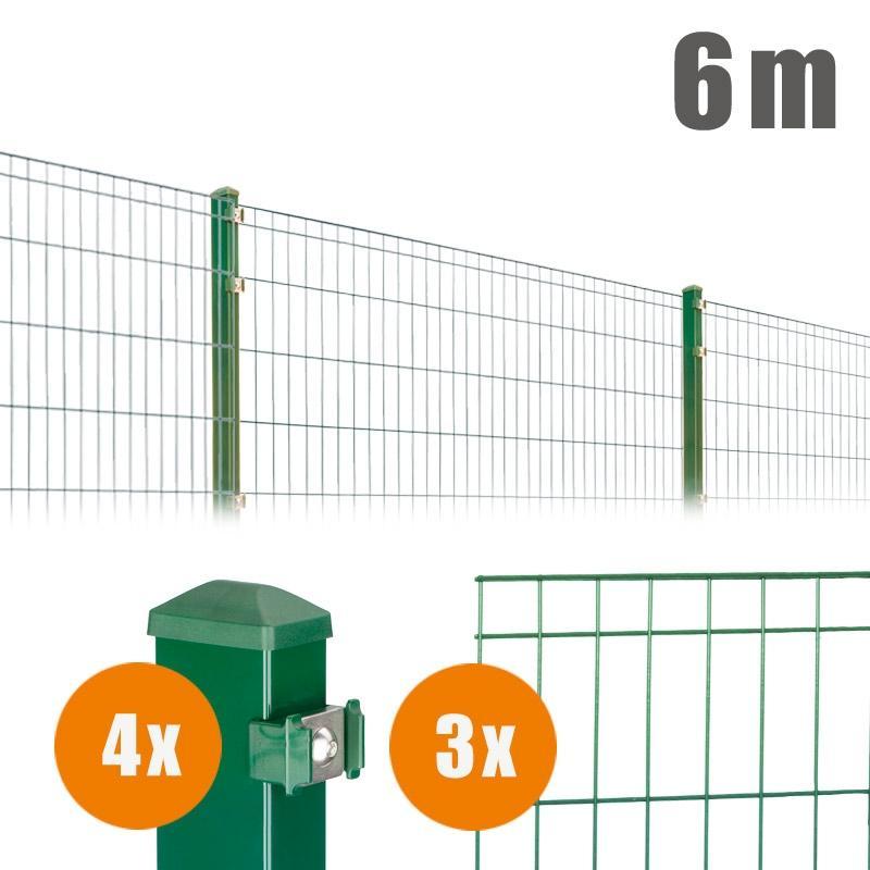 AOS Matte Michl Komplett-Zaun MICHL Länge 6m x Höhe 1,0 m moosgrün