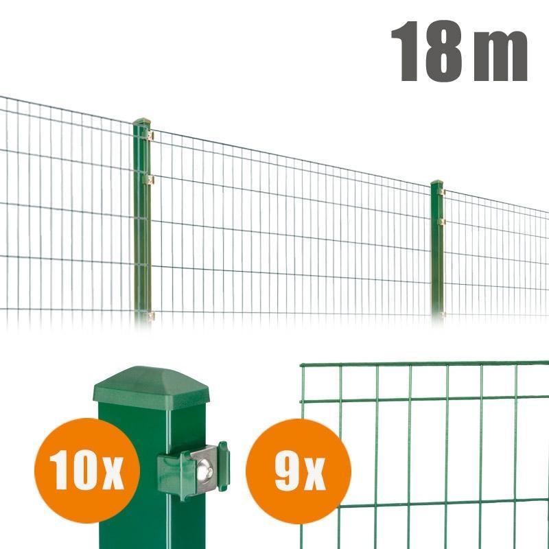 AOS Matte Michl Komplett-Zaun MICHL Länge 18m x Höhe 1,0 m moosgrün