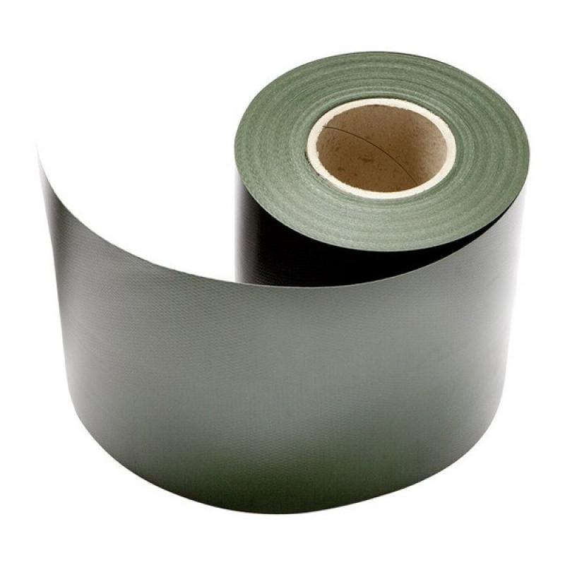 Doppelstabgitterzaun Sichtschutzzaun A1 Rolle (L: 350 cm x 19 cm) - grün