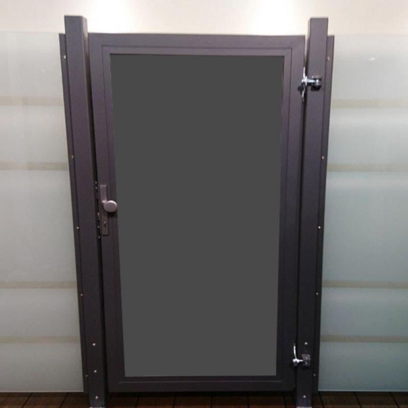 TraumGarten Einzeltor Maßanfertigung System Board Design wählbar - Breite wählbar Höhe 180 cm