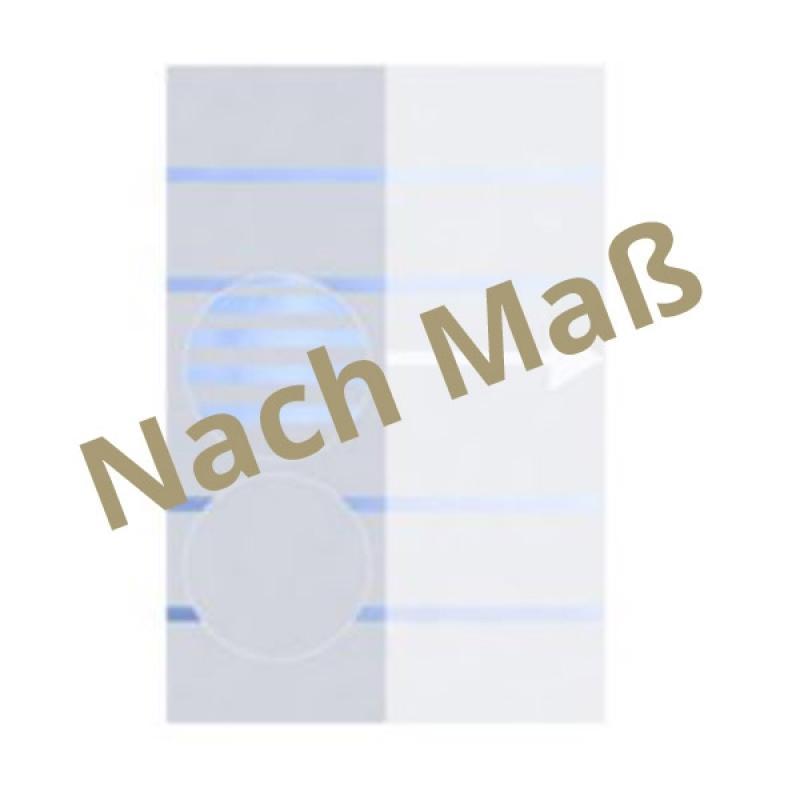 TraumGarten Sichtschutzzaun System Glas teilmattiert - Maßanfertigung für Breite 40 - 120 cm