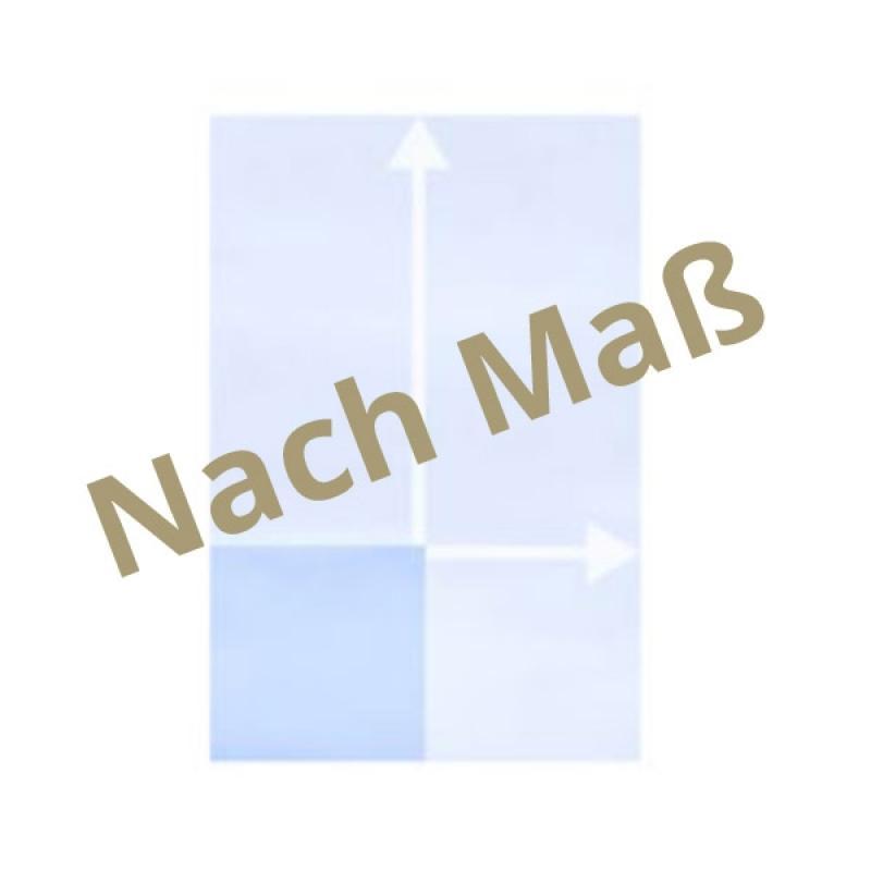 TraumGarten Sichtschutzzaun System Glas matt / klar - Maßanfertigung für Höhe 40 - 180 cm Breite 40 - 120 cm
