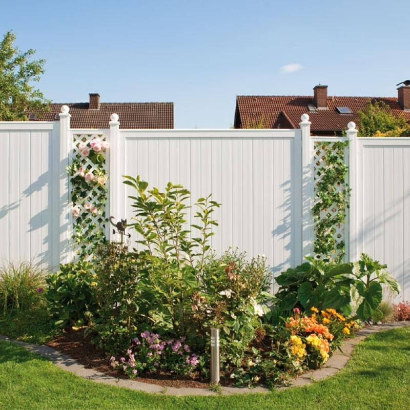Traumgarten sichtschutzzaun kunststoff komplettset aus for Sichtschutz aus kunststoff