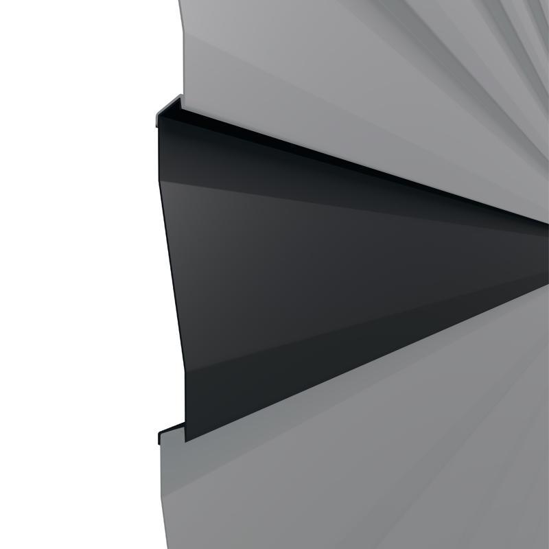 TraumGarten Einzelprofil System Basic Metall anthrazit - 15 x 2 x 179 cm