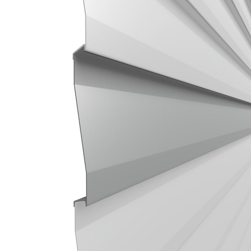 TraumGarten Einzelprofil System Basic Metall silber - 15 x 2 x 179 cm