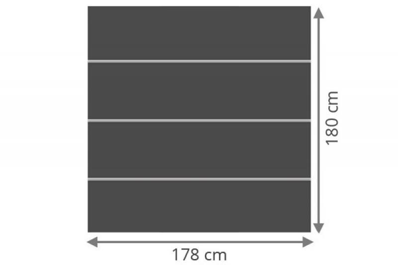 TraumGarten Sichtschutzzaun System Board XL Set Rechteck schiefer - 178 x 180 cm
