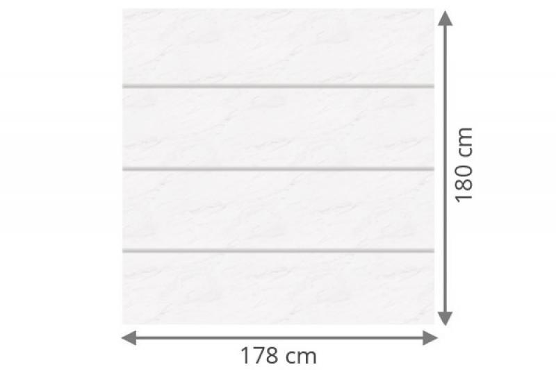 TraumGarten Sichtschutzzaun System Board XL Set Rechteck marmor - 178 x 180 cm