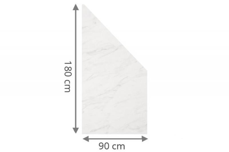 TraumGarten Sichtschutzzaun System Board Anschluss marmor - 90 x 180/90 x 0,6 cm