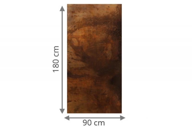 traumgarten sichtschutzzaun system board rechteck rost 90 x 180 x 0 6 cm. Black Bedroom Furniture Sets. Home Design Ideas