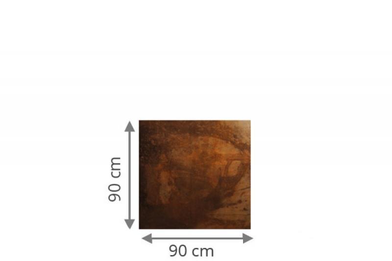 TraumGarten Sichtschutzzaun System Board Rechteck rost - 90 x 180/90 x 0,6 cm