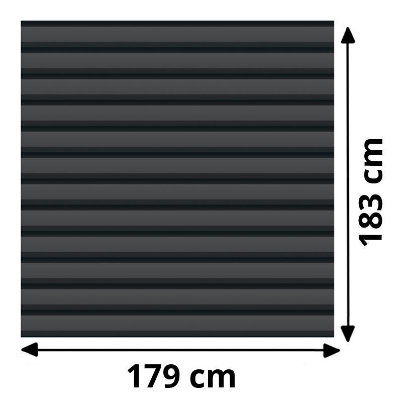 TraumGarten Sichtschutzzaun System Basic Metall Set Rechteck anthrazit - 179 x 180 cm