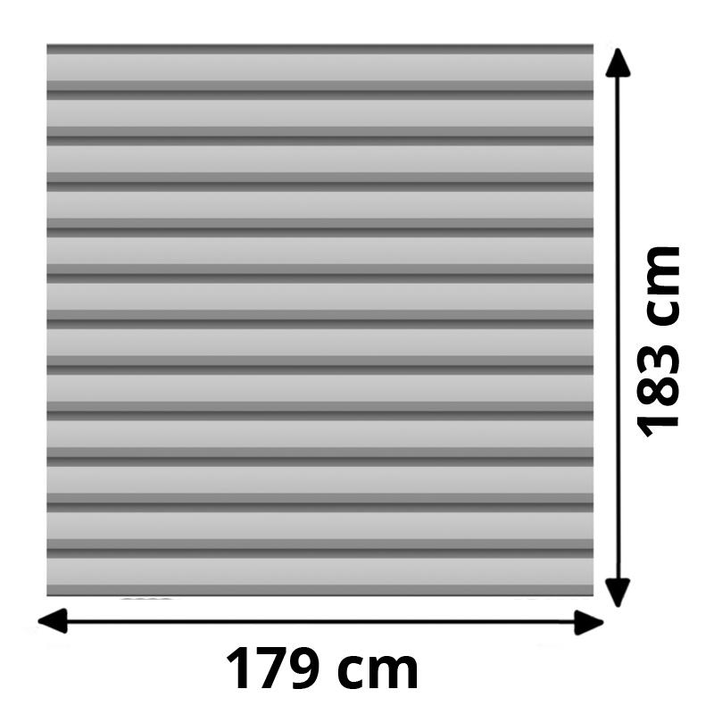 TraumGarten Sichtschutzzaun System Basic Metall Set Rechteck silber - 179 x 180 cm