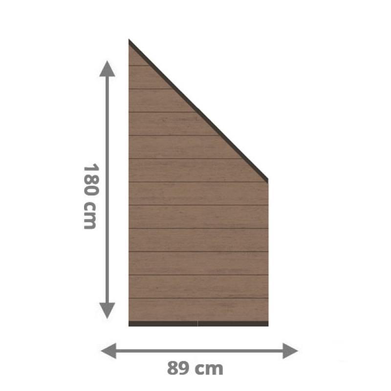 TraumGarten Sichtschutzzaun System WPC Anschluss Set mandel / anthrazit - 89 x 183 auf 89 cm