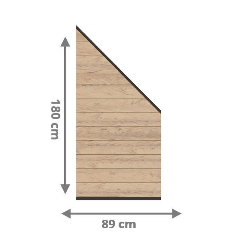TraumGarten Sichtschutzzaun System WPC Anschluss Set sand / anthrazit - 89 x 183 auf 89 cm