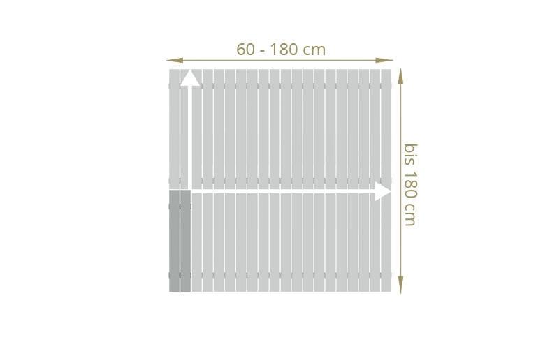 TraumGarten Sichtschutzzaun Maßanfertigung Squadra Rechteck lichtgrau - Breite 20-200 x Höhe 91-200 cm