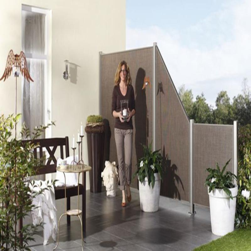 TraumGarten Sichtschutzzaun Weave LÜX Rechteck bronze - 88 x 178 cm