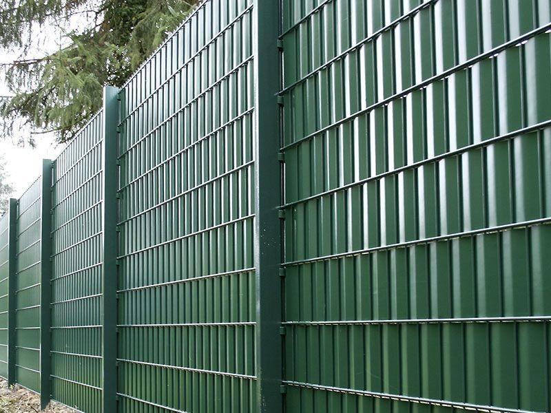 Doppelstabgitterzaun Sichtschutzstreifen A1 Rolle 35 m Blickdicht - moosgrün