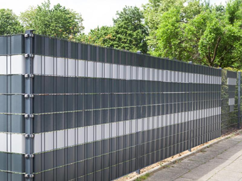 Doppelstabgitterzaun Sichtschutzstreifen A1 Rolle 35 m Blickdicht - weiß