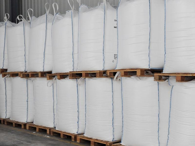 Gabionensteine ICE BLUE - hellgrau - 500 kg - Big Bag