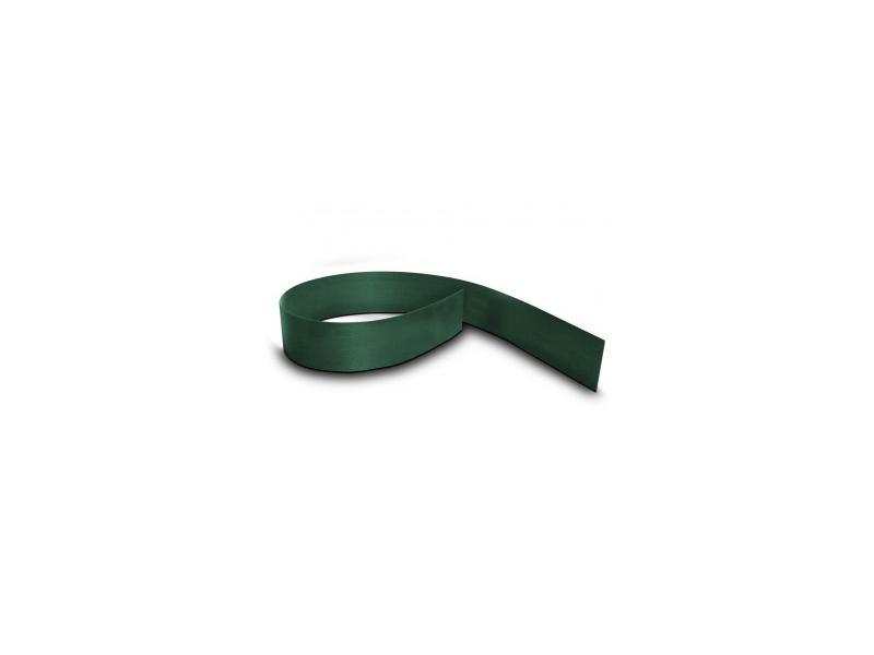 Doppelstabgitterzaun Sichtschutzstreifen Blickdicht pro easy (L: 252 x 19 cm) - moosgrün