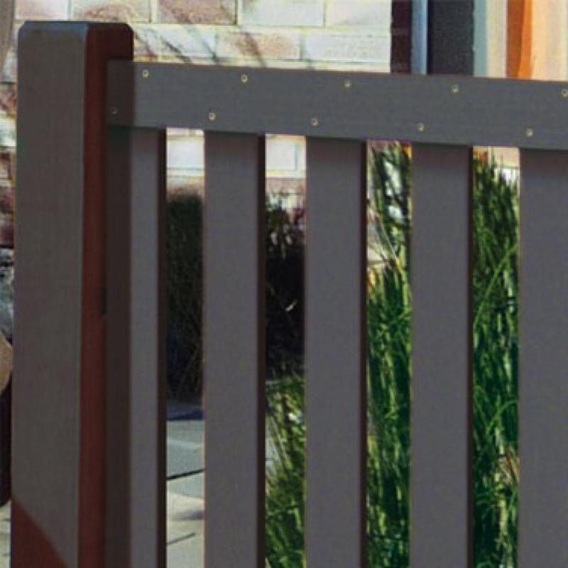 TraumGarten Vorgartenzaun Raja WPC Set anthrazit - 149 x 85 cm