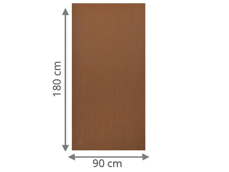 TraumGarten Sichtschutzzaun System Board Rechteck rost - 90 x 180 x 0,6 cm