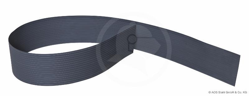 Doppelstabgitterzaun Sichtschutzstreifen Blickdicht pro easy (L: 252 x 19 cm) - anthrazitgrau