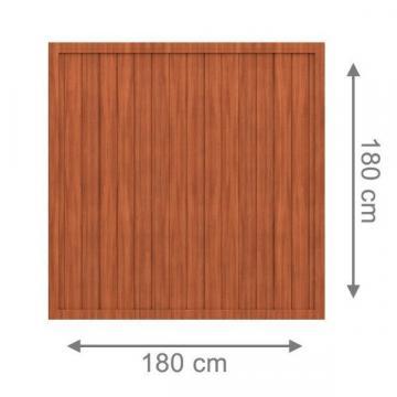 sichtschutzzaun longlife riva braun kunststoff gartenzaun online kaufen. Black Bedroom Furniture Sets. Home Design Ideas