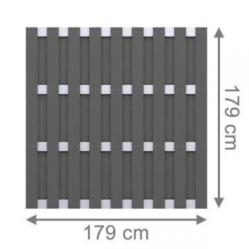 sichtschutzzaun wpc jumbo wpc anthrazit alu hier g nstig online kaufen. Black Bedroom Furniture Sets. Home Design Ideas
