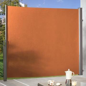 wetterfeste ausziehbare seitenmarkisen in drei farbt nen. Black Bedroom Furniture Sets. Home Design Ideas