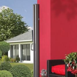 seitenmarkise zum ausziehen 180 x 350cm farbe anthrazit. Black Bedroom Furniture Sets. Home Design Ideas