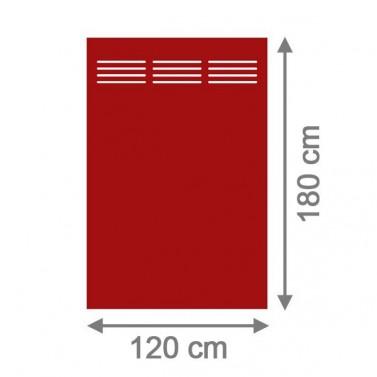 sichtschutzzaun system hpl rechteck mit gitter 120 x 180 x 0 6 cm rot. Black Bedroom Furniture Sets. Home Design Ideas