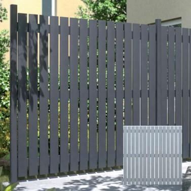 sichtschutzzaun aus aluminium squadra lichtgrau 180 x 180 cm. Black Bedroom Furniture Sets. Home Design Ideas