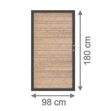 sichtschutzzaun system wpc tor din rechts sand anthrazit 98 x 179cm. Black Bedroom Furniture Sets. Home Design Ideas