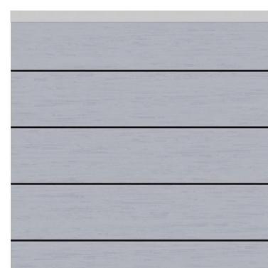 sichtschutzzaun system wpc zaunfeld set grau 178 x 183cm abschlussleisten silber. Black Bedroom Furniture Sets. Home Design Ideas