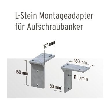 Lstein montageadapter für pfostenträger
