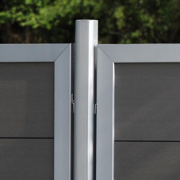 br gmann sichtschutzzaun design wpc alu anschluss anthrazit 90 x 180 auf 90 cm. Black Bedroom Furniture Sets. Home Design Ideas
