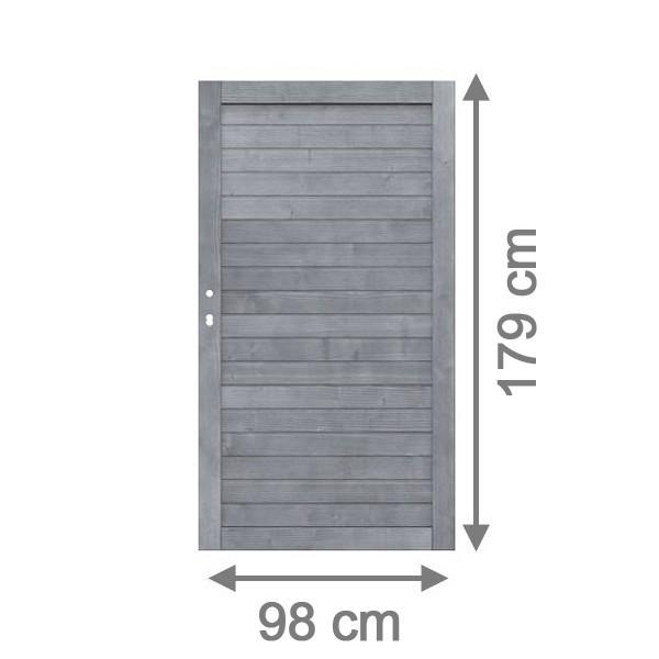 br gmann sichtschutzzaun neo tor grau lasiert 98 x 179 cm. Black Bedroom Furniture Sets. Home Design Ideas
