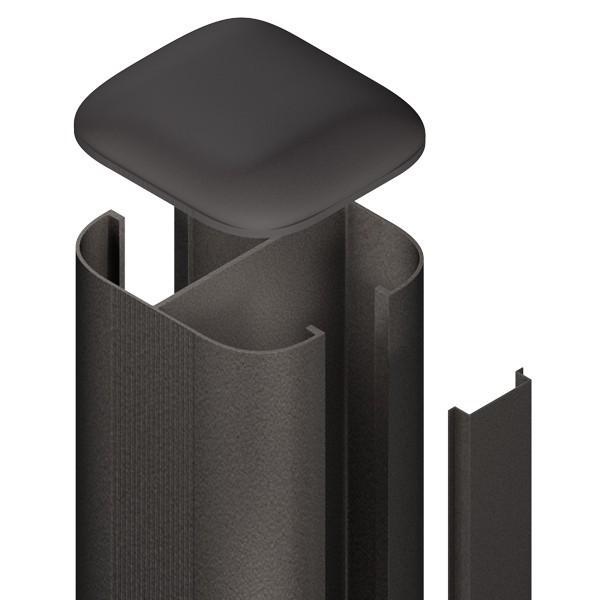 br gmann zaunpfosten system wpc alu set anthrazit zum erdverbau 7 x 7 x 150 cm. Black Bedroom Furniture Sets. Home Design Ideas