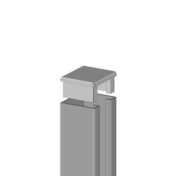 br gmann system u montageprofil inkl kappe silber 4 x 3 x 105 cm. Black Bedroom Furniture Sets. Home Design Ideas