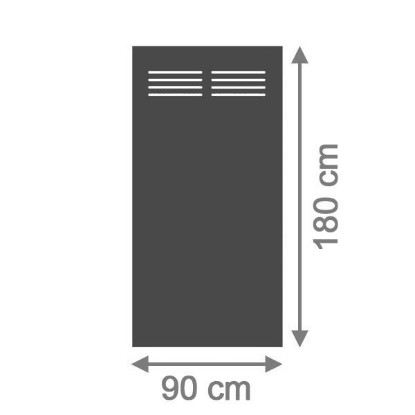 br gmann sichtschutzzaun system hpl rechteck mit gitter 90 x 180 x 0 6 cm schiefer. Black Bedroom Furniture Sets. Home Design Ideas