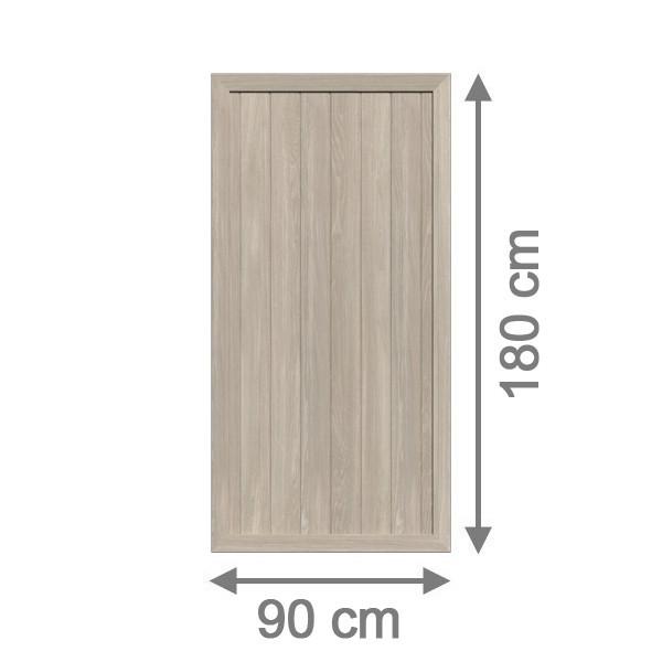 br gmann sichtschutzzaun longlife riva rechteck polareiche 90 x 180 cm. Black Bedroom Furniture Sets. Home Design Ideas