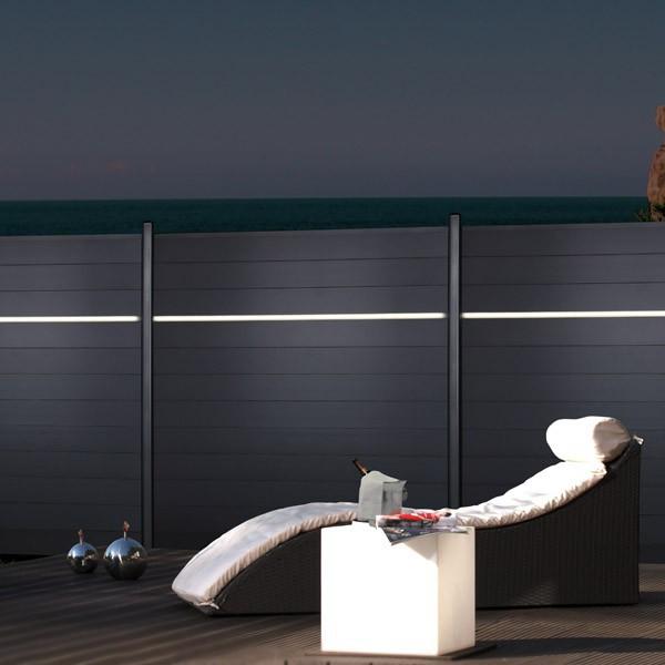 br gmann lichtleiste led f r system zaun 179 x 2 x 3 cm. Black Bedroom Furniture Sets. Home Design Ideas