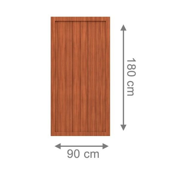 br gmann sichtschutzzaun longlife riva rechteck braun 90 x 180 cm. Black Bedroom Furniture Sets. Home Design Ideas